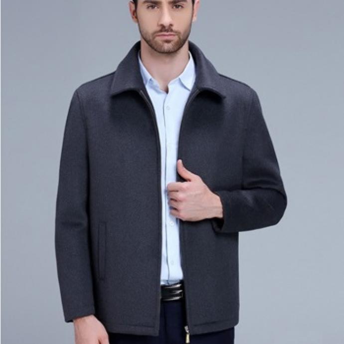Áo khoác dạ lông cừu AD76