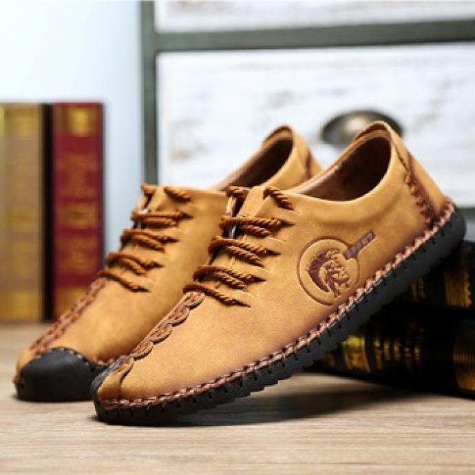 Giày da bò đế khâu vr35