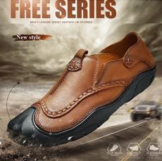 Giày lười da bò ốp mũi GL60