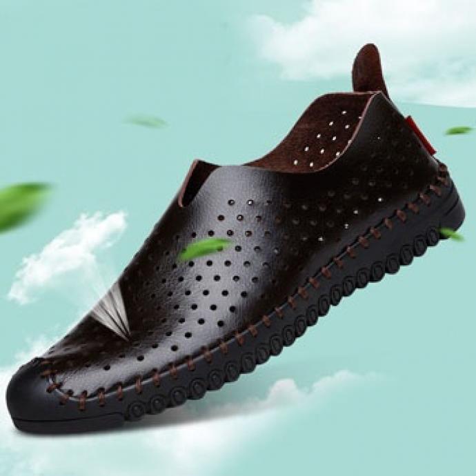 Giày lười thoáng khí đế khâu Gl52